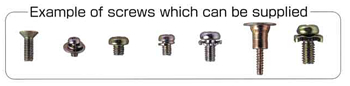 EXAMPLE OF SCREWS WHICH CAN BE SUPPLIED