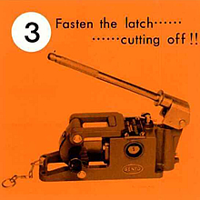 3. Fasten the latch・・・cutting off!!